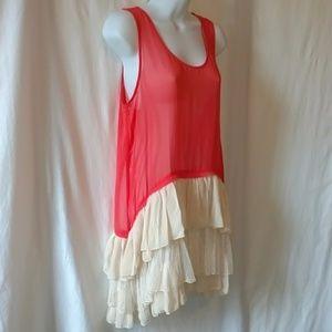 Beautiful, light, coral top/tunic/dress!